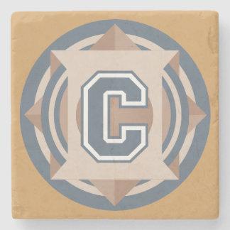 """Custom Monogram """"C"""" Initial Stone Coaster"""