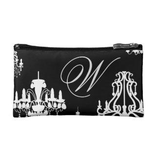 Custom Monogram Chandeliers Makeup Bag