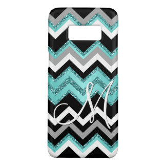 Custom Monogram Chic Retro Chevron Zigzag Pattern Case-Mate Samsung Galaxy S8 Case