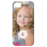 Custom Monogram Circle Personalized Photo Template iPhone 5 Covers