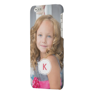 Custom Monogram Circle Personalized Photo Template Matte iPhone 6 Case