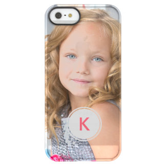 Custom Monogram Circle Personalized Photo Template Permafrost iPhone SE/5/5s Case