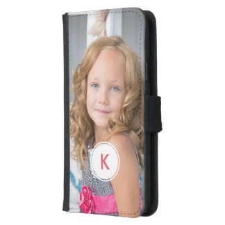 Custom Monogram Circle Personalized Photo Template Samsung Galaxy S5 Wallet Case