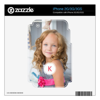 Custom Monogram Circle Personalized Photo Template Skin For The iPhone 2G