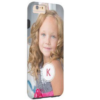 Custom Monogram Circle Personalized Photo Template Tough iPhone 6 Plus Case