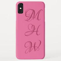 Custom monogram & color phone cases