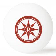 Custom monogram & color ping pong balls