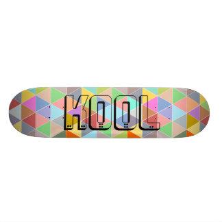 Custom monogram colorful triangles skateboard deck