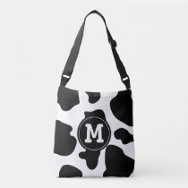 Custom monogram cow print cross body bag