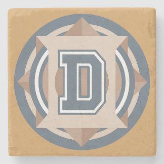 """Custom Monogram """"D"""" Initial Stone Coaster"""