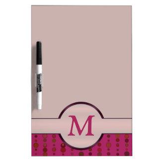 Custom Monogram Dry Erase Board