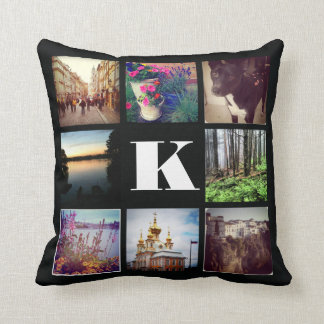 Custom Monogram Eight Instagram Photo Pillow
