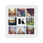 Custom Monogram Eight Instagram Photo Tray