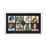 Custom Monogram Family Photo Collage Acrylic Tray
