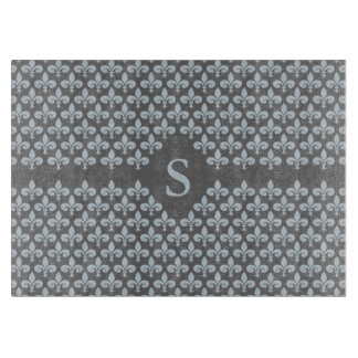 Custom Monogram Fleur-De-Lis cutting board