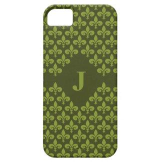 Custom Monogram Fleur-De-Lis iPhone 5 Case-Mate iPhone SE/5/5s Case