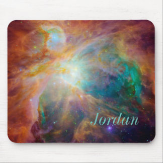 Custom Monogram Galaxy Mouse Pad