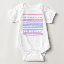 Custom Monogram Geometric pattern clothing Baby Bodysuit