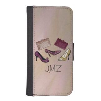 Custom Monogram Girls Nite Out Wallet Phone Case For iPhone SE/5/5s