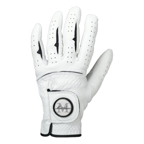 Custom monogram golf gloves for men and women