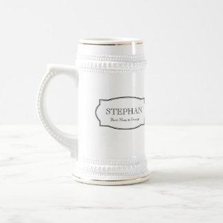 Custom monogram groomsmen elegant beer stein mugs
