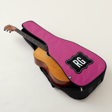 Beach Themed Custom monogram guitar bag in pink or other color