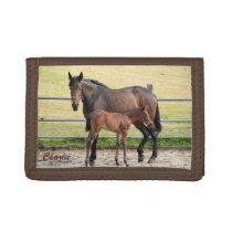 Custom monogram horse wallet