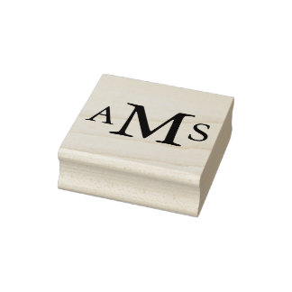 Custom monogram initials personalized inital rubber stamp