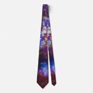 Custom monogram initials Tarantula Nebula star Tie