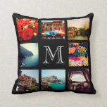 "Custom Monogram Instagram Photo Collage Throw Pillow<br><div class=""desc"">Cute keepsake reversible throw pillow design featuring your custom Instagram photo collage on front and back sides and personalized with your monogram initial. Click Customize It to change monogram font and color and further personalized the design. Great gift for family,  friends,  parents,  and grandparents!</div>"