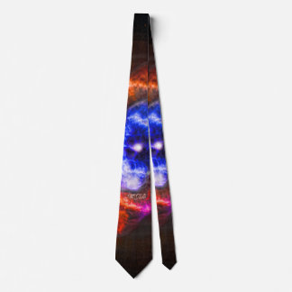 Custom monogram intitials Cats Eye Nebula Tie