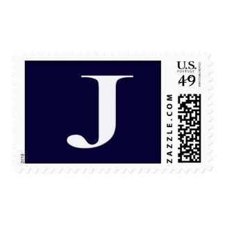 Custom Monogram J Postage