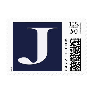 Custom Monogram J - Small Size - horizontal Postage