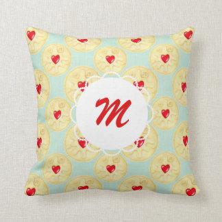 Custom Monogram Jammy Dodger Biscuit Cushion Pillow