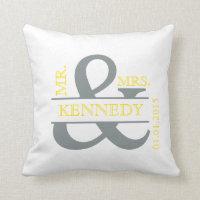 Custom Monogram Keepsake Wedding Pillow