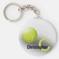 Custom monogram keychain Tennis ball