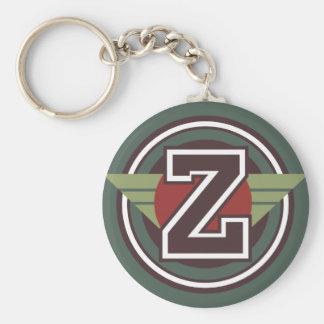 Custom Monogram Letter Z Initial Keychain