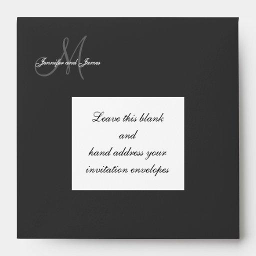 Custom Monogram Logo Wedding Invitation Envelope