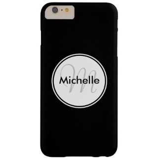 Custom Monogram Name Black iPhone 6 Plus Case