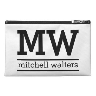Custom monogram, name & color accessory bags