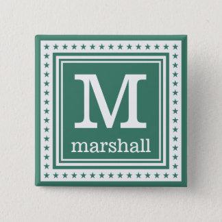 Custom monogram, name & color button