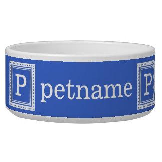 Custom monogram, name & color pet bowls