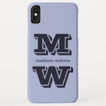 Custom monogram, name & color phone cases