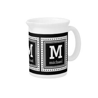 Custom monogram, name & color pitcher