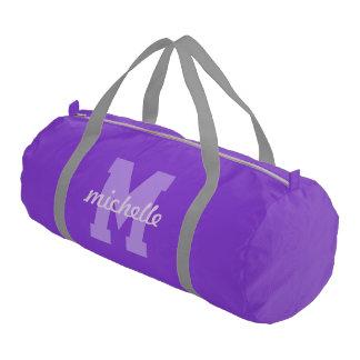 Custom monogram & name duffle bag
