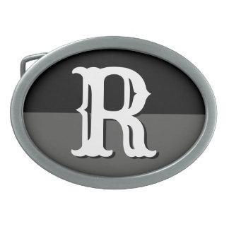Custom monogram name initial belt buckles