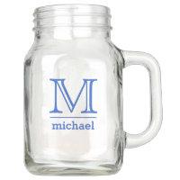 Custom Monogram & Name Mason jars