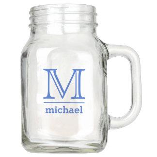 Custom Monogram & Name Mason jars Mason Jar