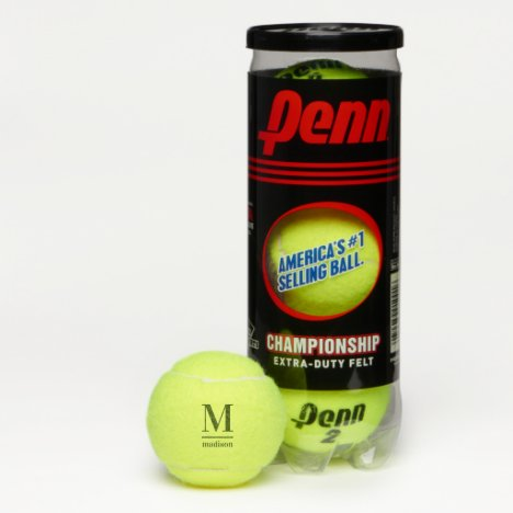 Custom monogram & name tennis balls