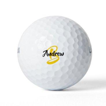 Custom Monogram Name White Golf Balls